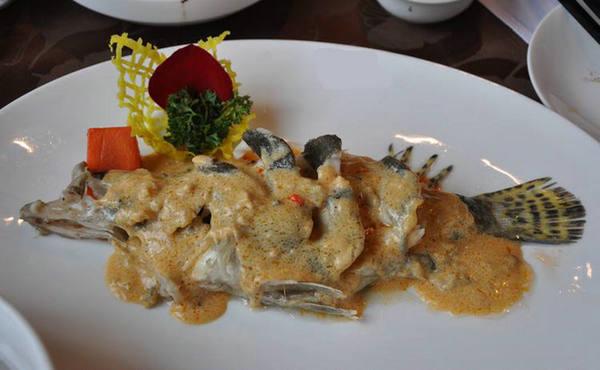 浙江丽水小吃:蟹汁鳜鱼